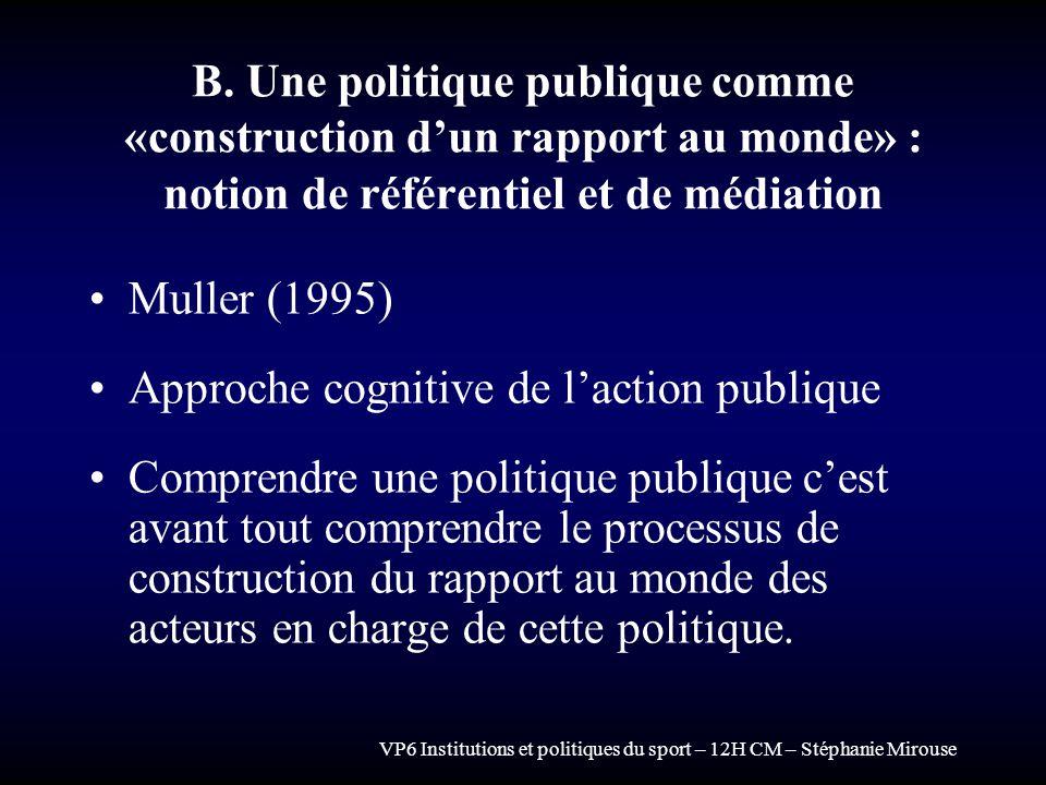 Approche cognitive de l'action publique