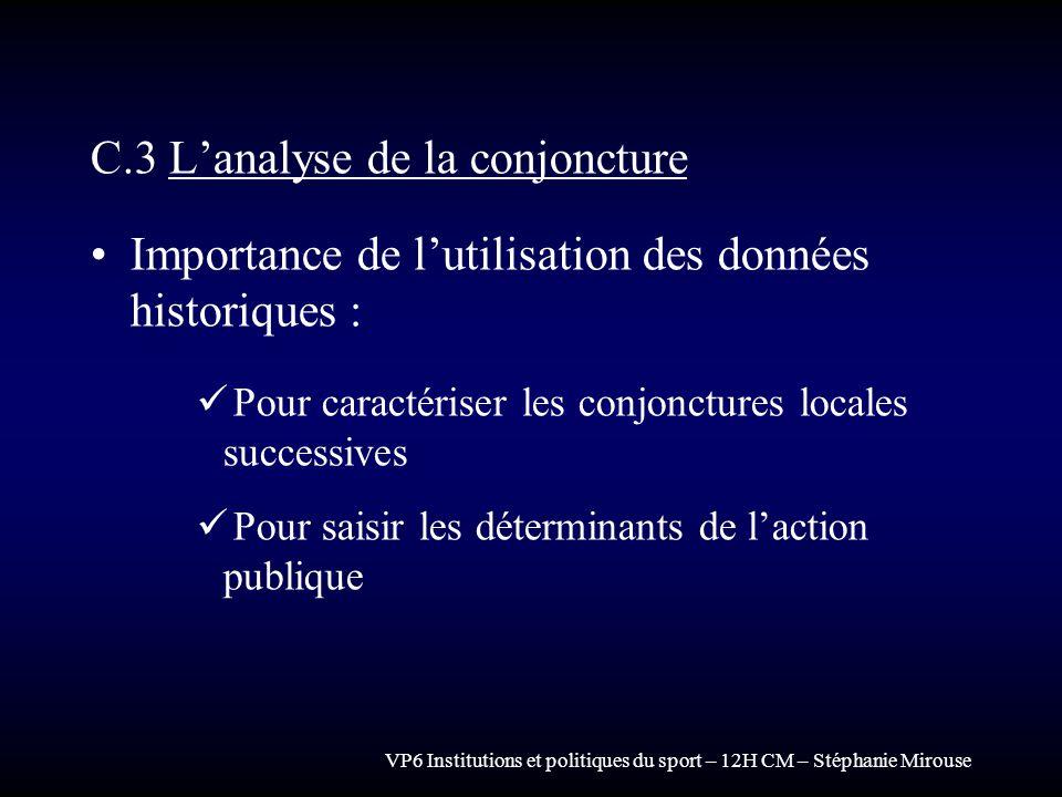 C.3 L'analyse de la conjoncture