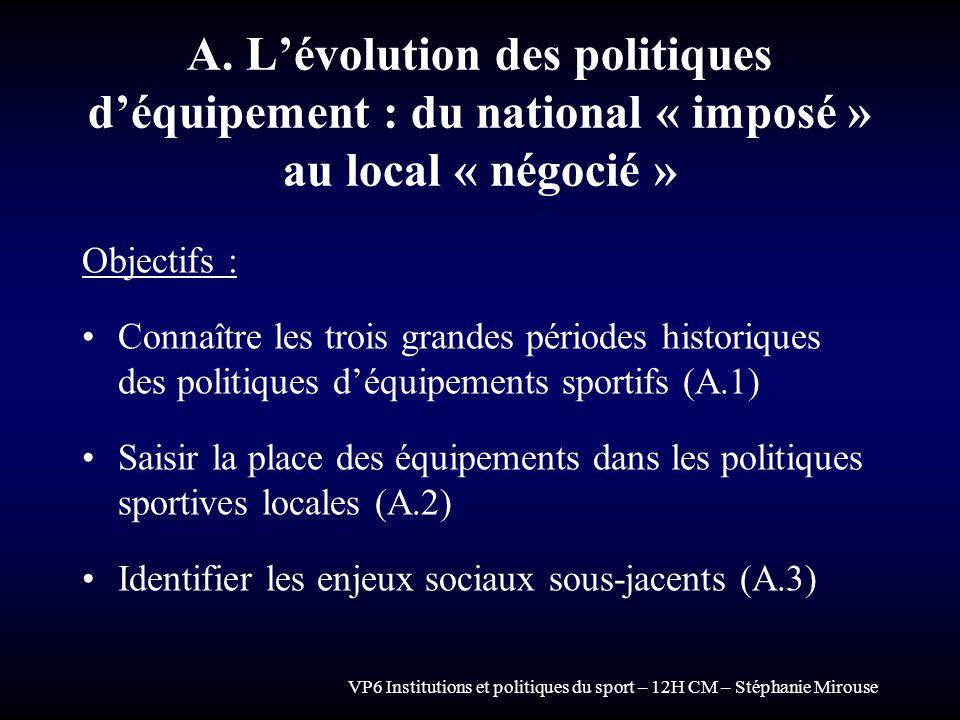 A. L'évolution des politiques d'équipement : du national « imposé » au local « négocié »