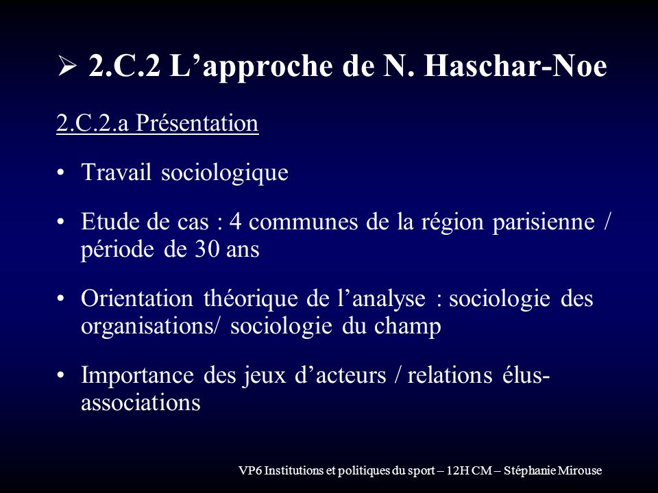 2.C.2 L'approche de N. Haschar-Noe