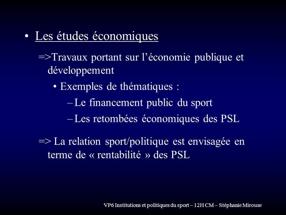 Les études économiques