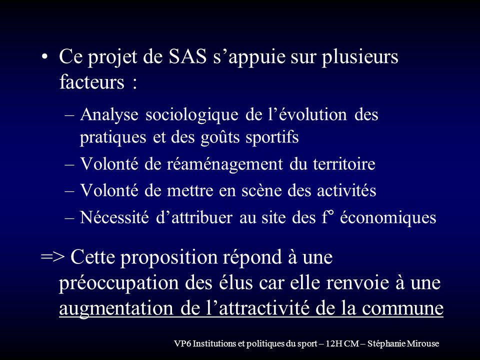 Ce projet de SAS s'appuie sur plusieurs facteurs :