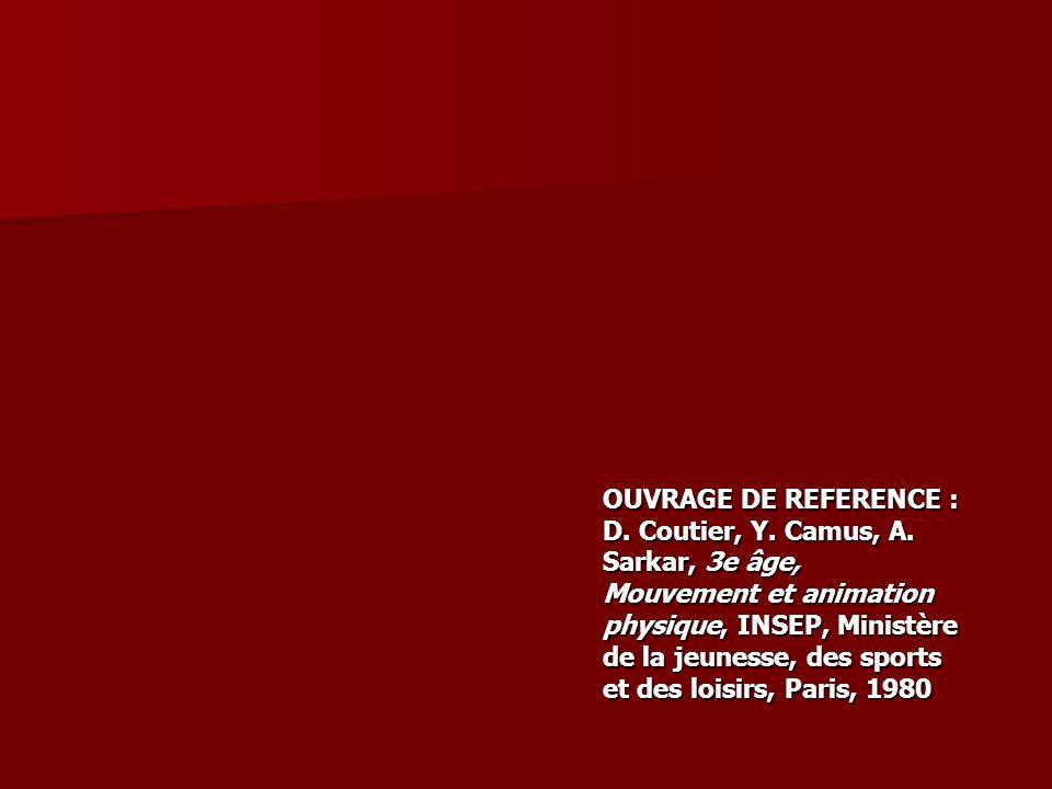 OUVRAGE DE REFERENCE : D. Coutier, Y. Camus, A