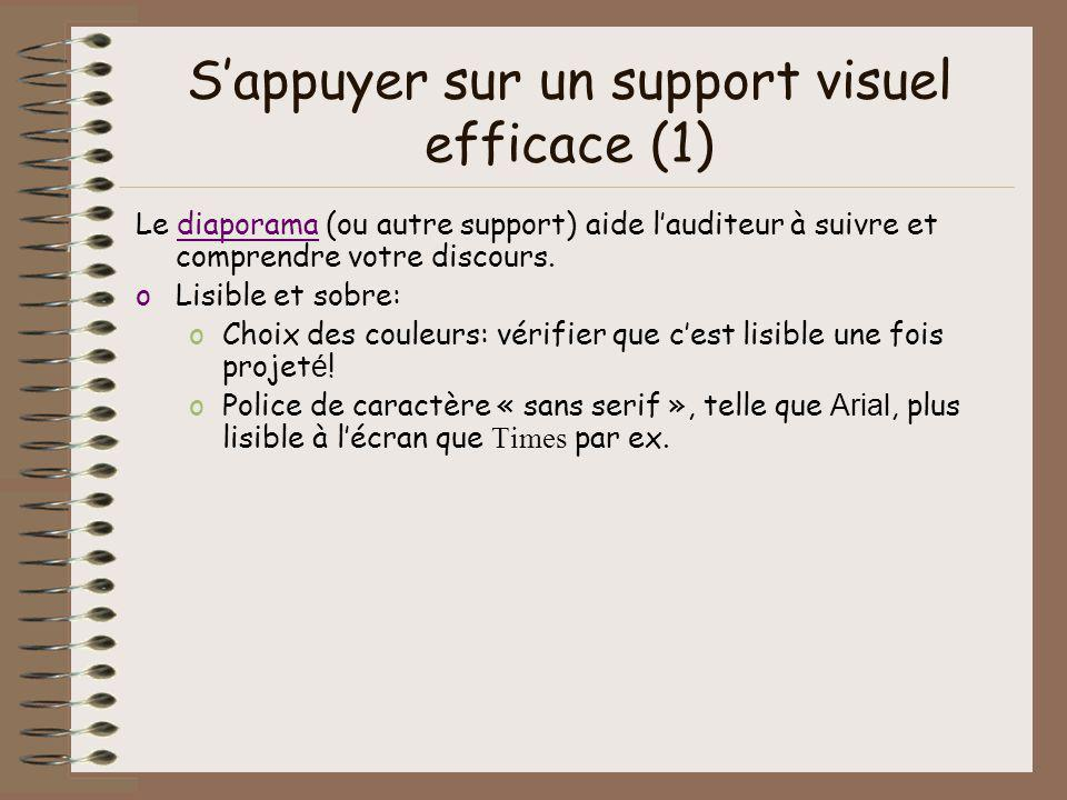 S'appuyer sur un support visuel efficace (1)