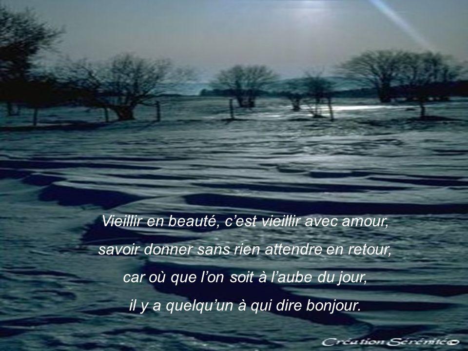 Vieillir en beauté, c'est vieillir avec amour,
