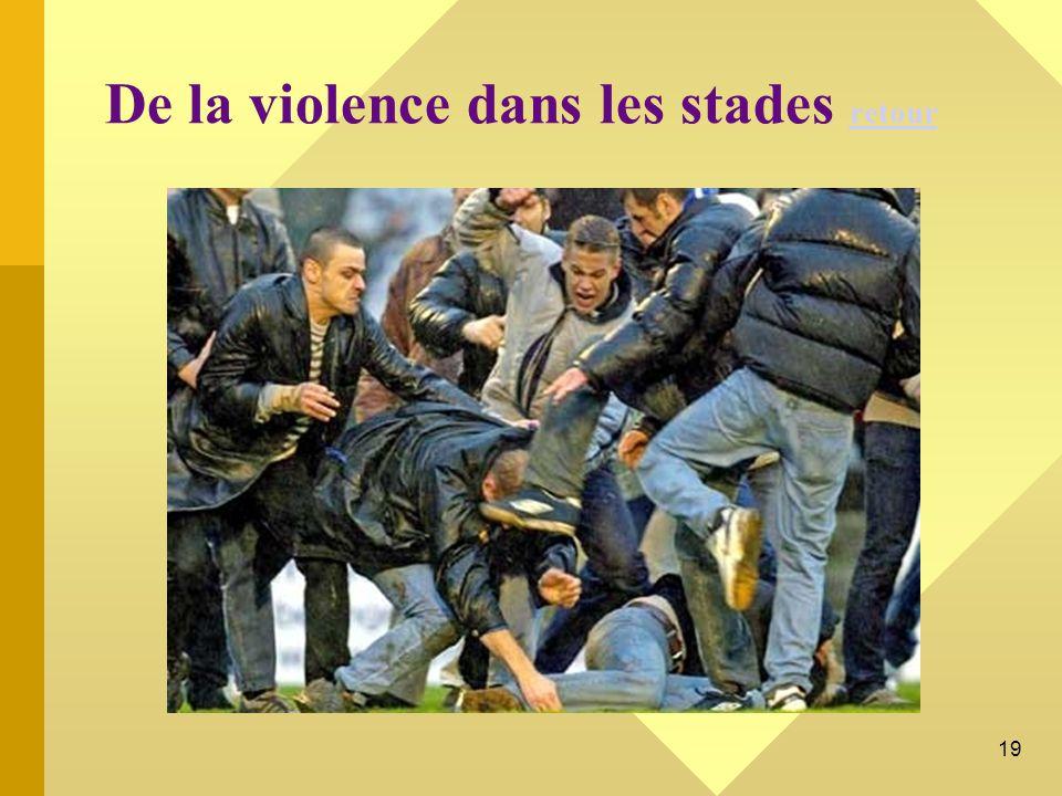 De la violence dans les stades retour