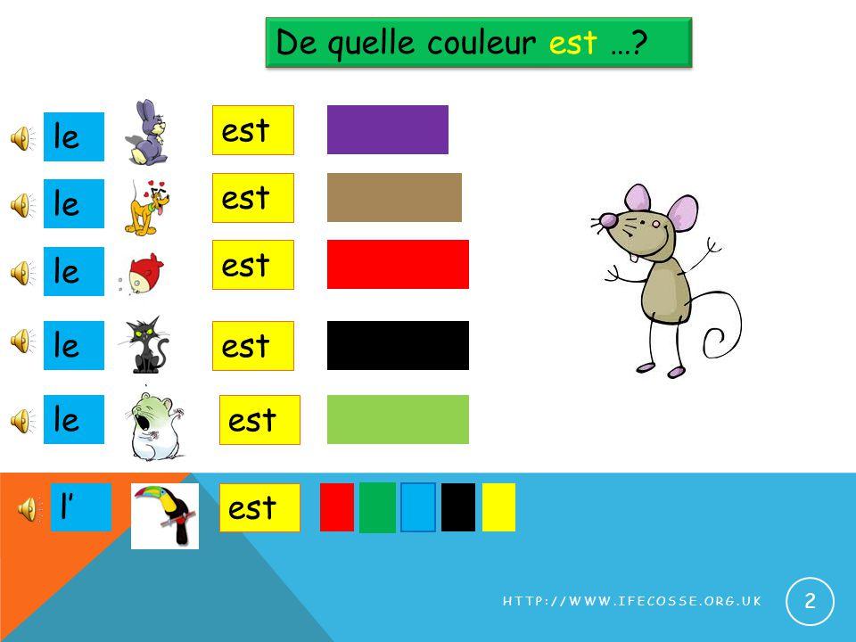 De quelle couleur est … est le est le est le le est le est l' est