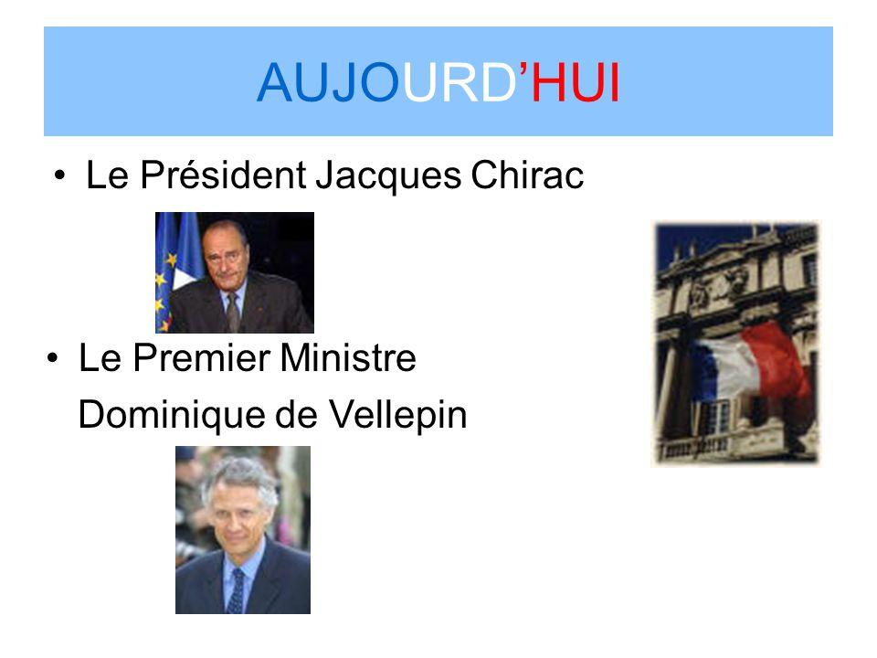 AUJOURD'HUI Le Président Jacques Chirac Le Premier Ministre