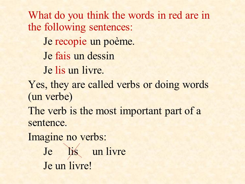 What do you think the words in red are in the following sentences: