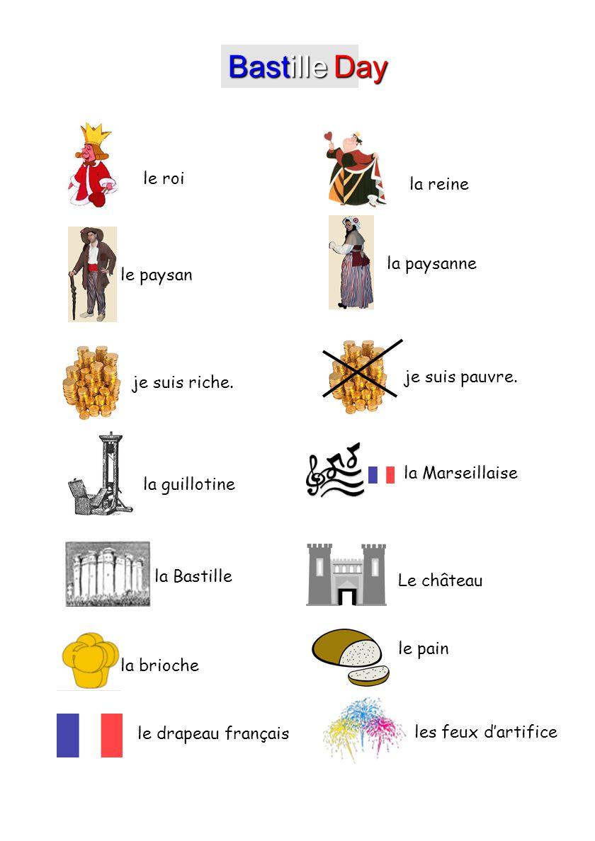 Bastille day le roi la reine la paysanne le paysan je suis - La table marseillaise chateau gombert ...