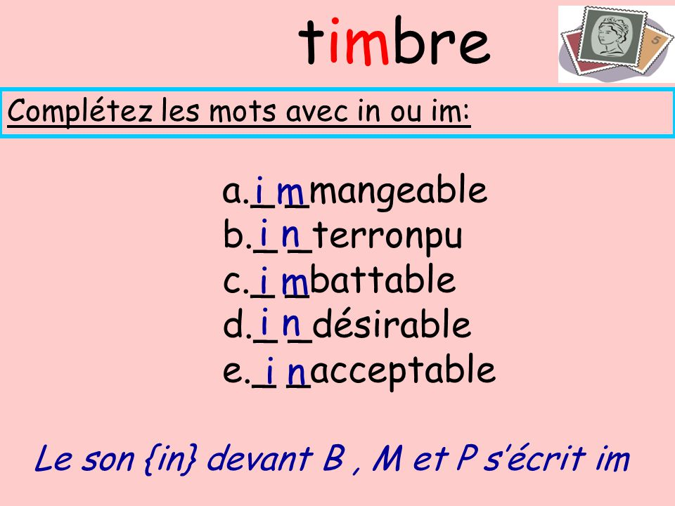 timbre _ _mangeable i m _ _terronpu _ _battable i n _ _désirable