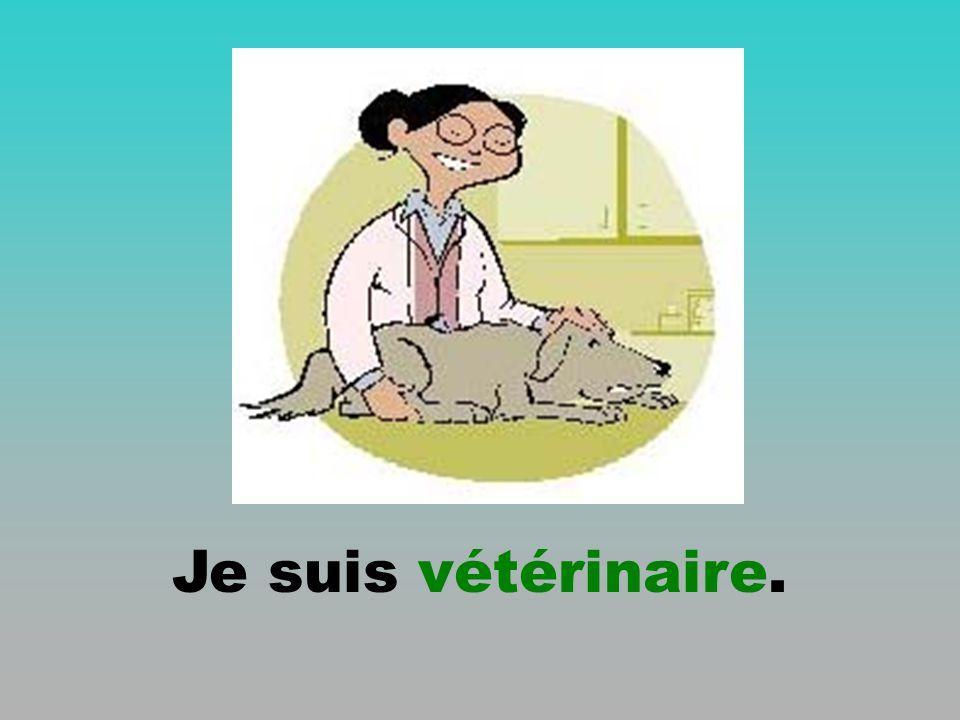 Je suis vétérinaire.