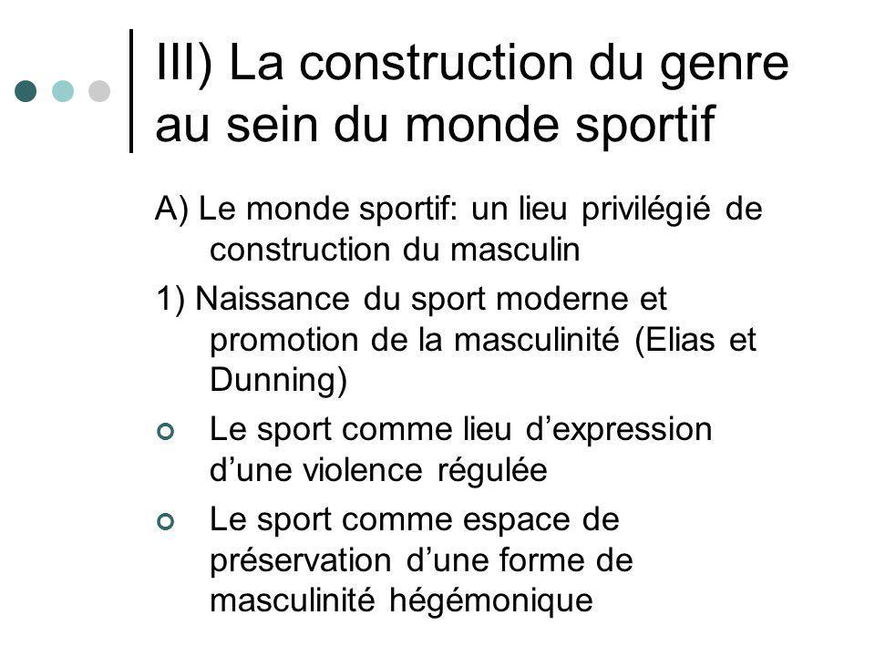 III) La construction du genre au sein du monde sportif