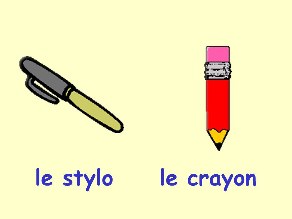 le stylo le crayon