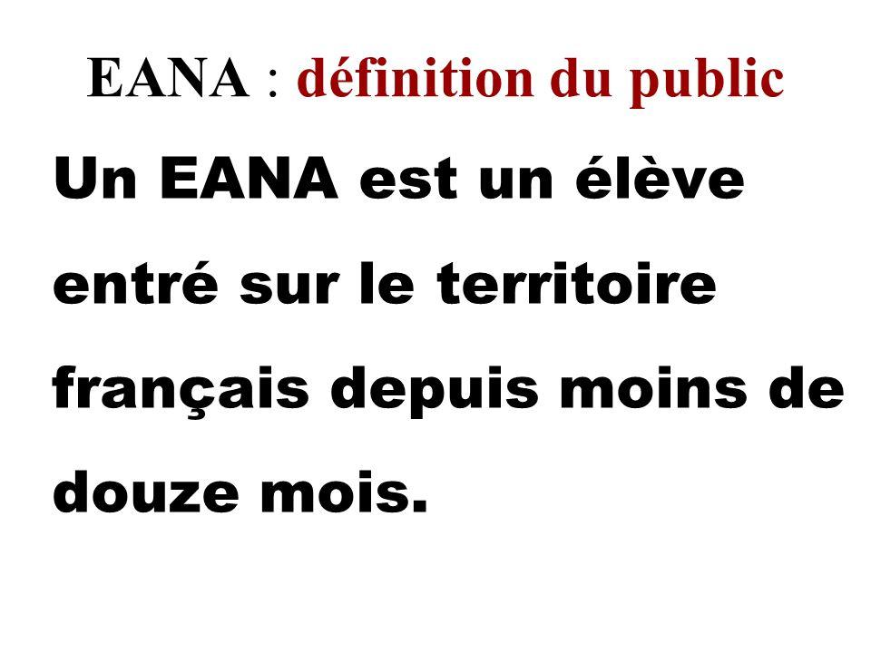 EANA : définition du public