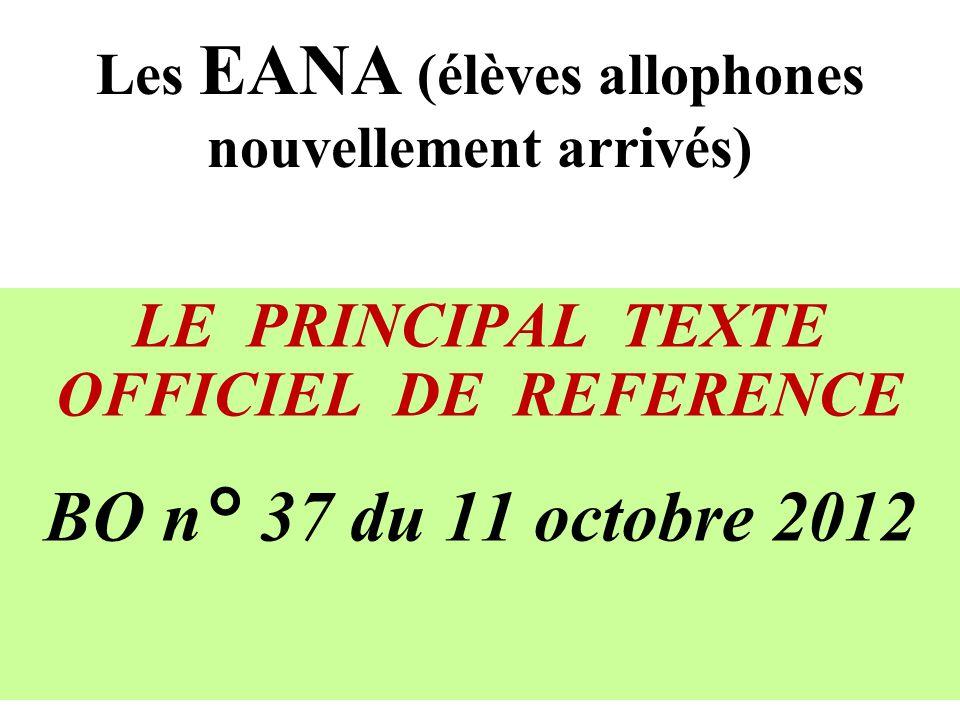 Les EANA (élèves allophones nouvellement arrivés)