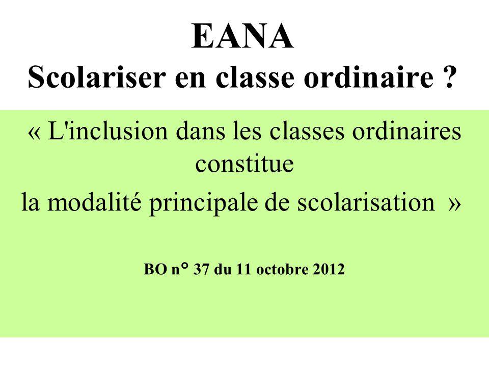 EANA Scolariser en classe ordinaire