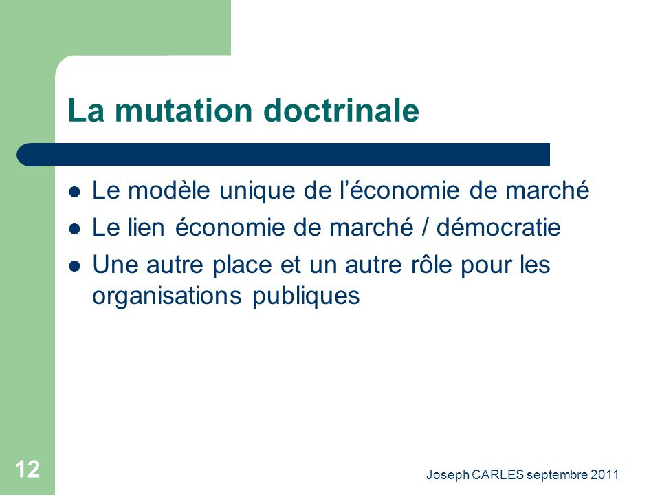 La mutation doctrinale
