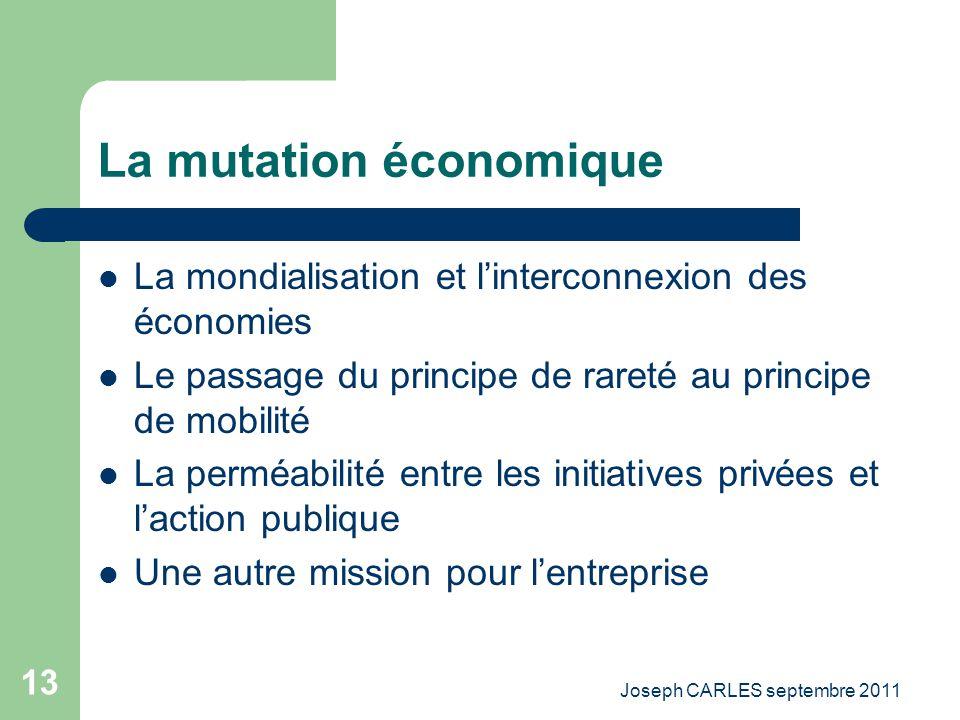 La mutation économique