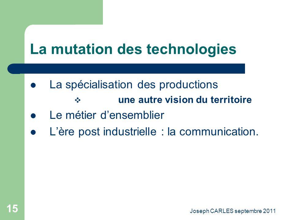 La mutation des technologies