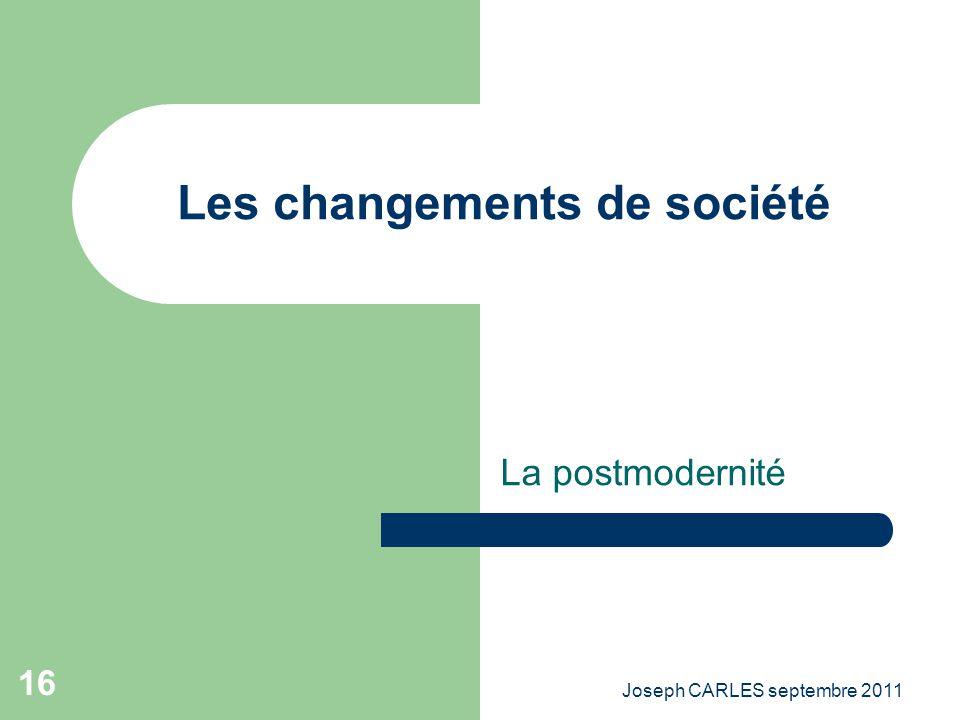 Les changements de société