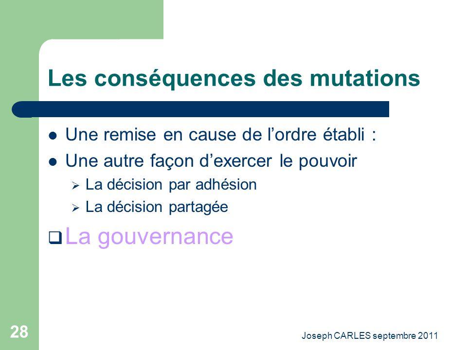 Les conséquences des mutations