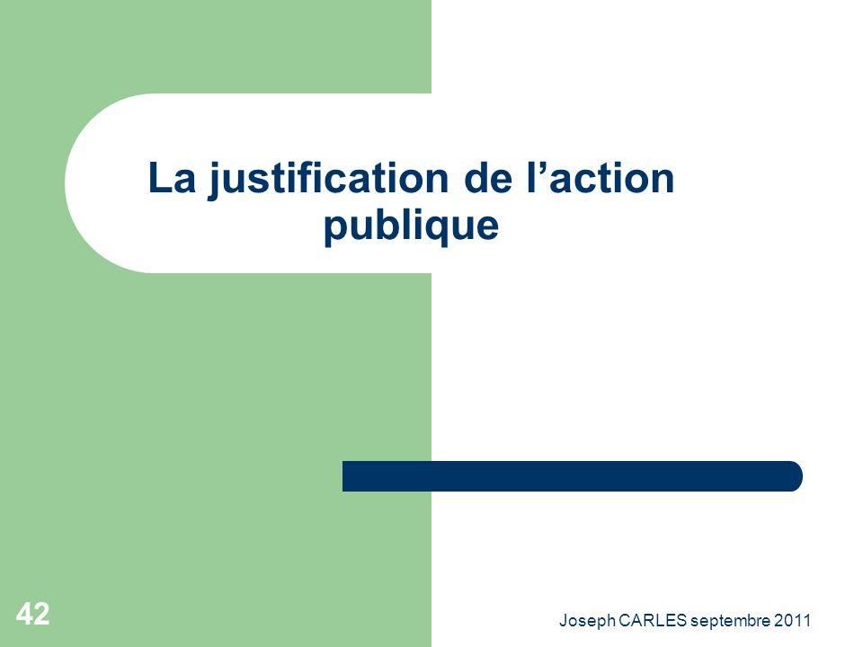 La justification de l'action publique