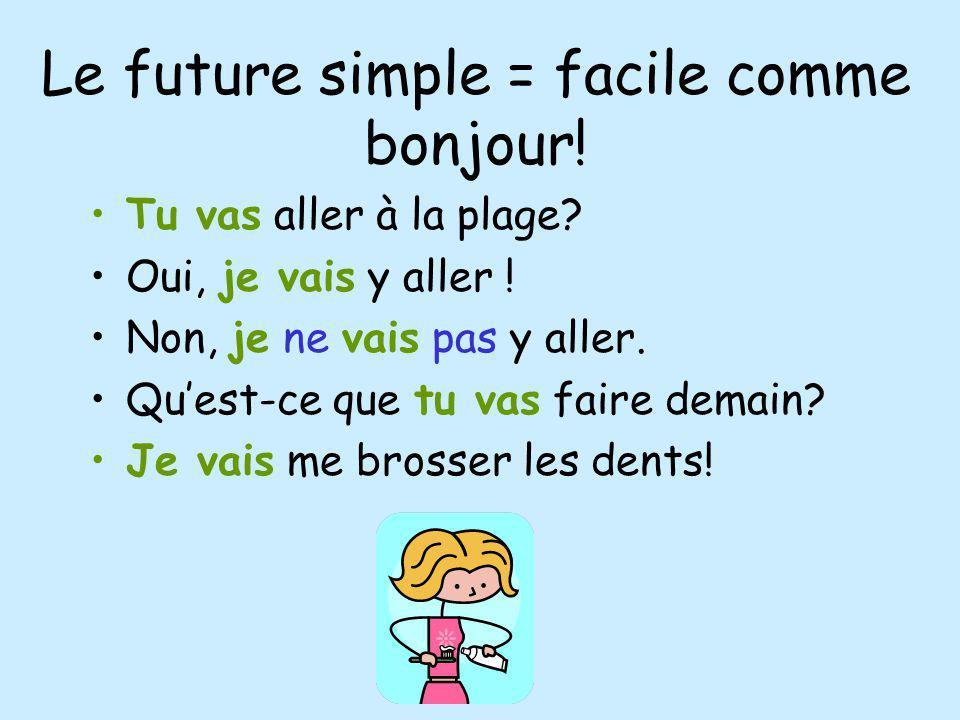 Le future simple = facile comme bonjour!