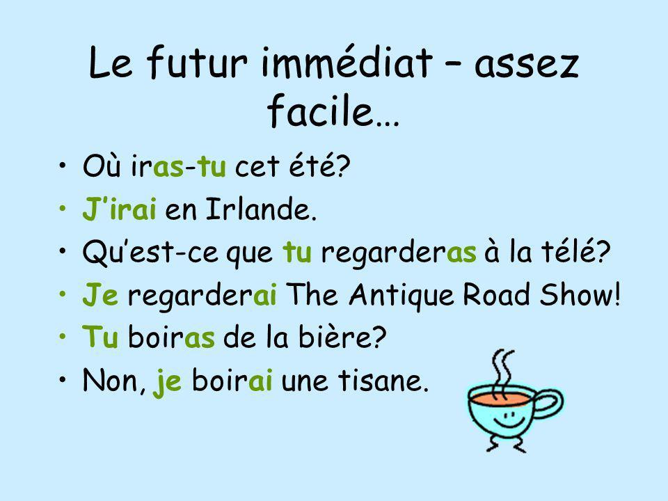 Le futur immédiat – assez facile…