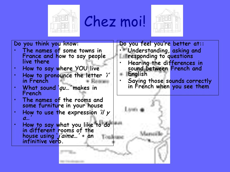 Chez moi! Do you think you know: