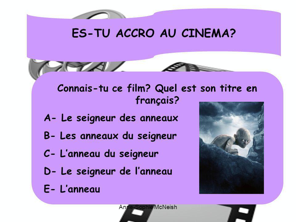 Connais-tu ce film Quel est son titre en français