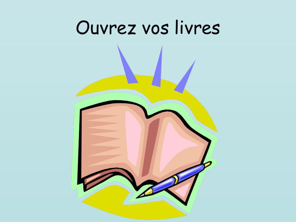 Ouvrez vos livres
