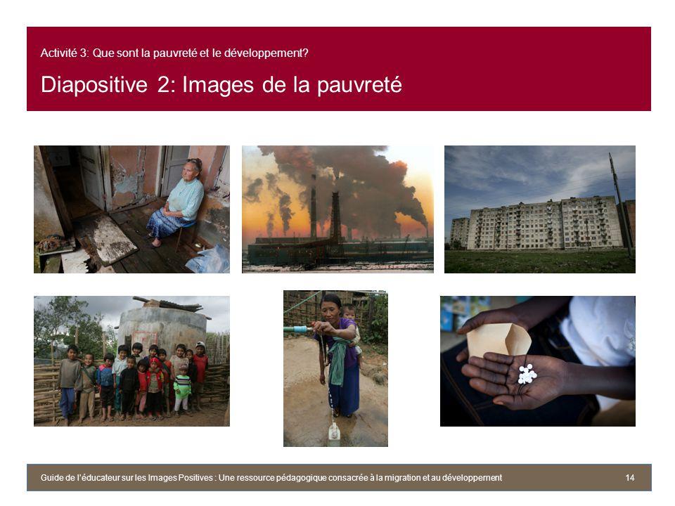 Activité 3: Que sont la pauvreté et le développement