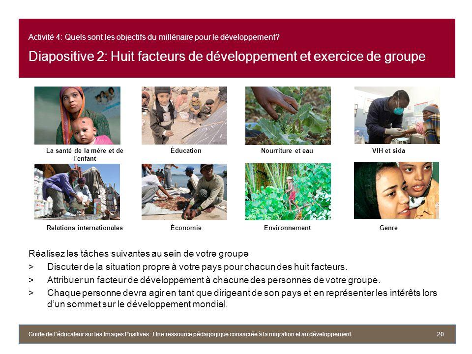 La santé de la mère et de l'enfant Relations internationales