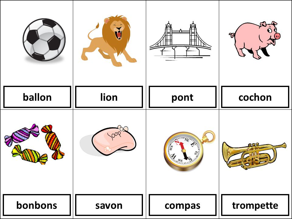 ballon lion pont cochon bonbons savon compas