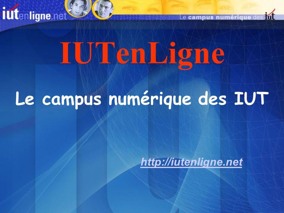 Le campus numérique des IUT