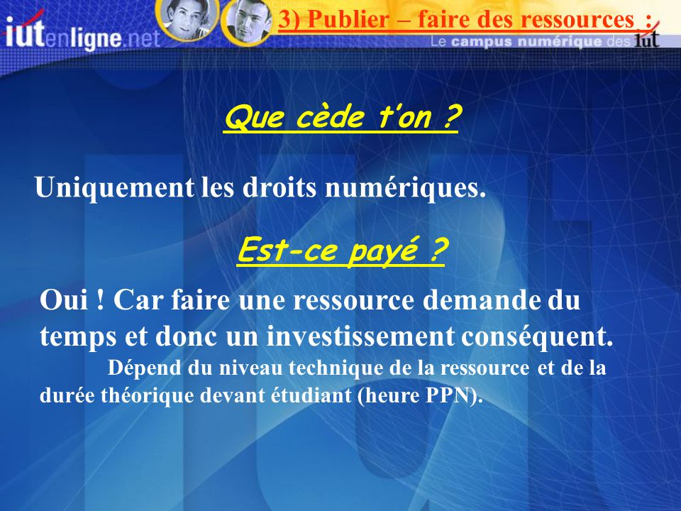 3) Publier – faire des ressources :