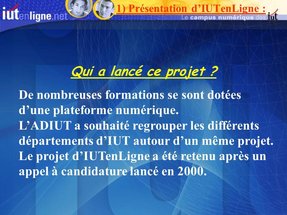 1) Présentation d'IUTenLigne :
