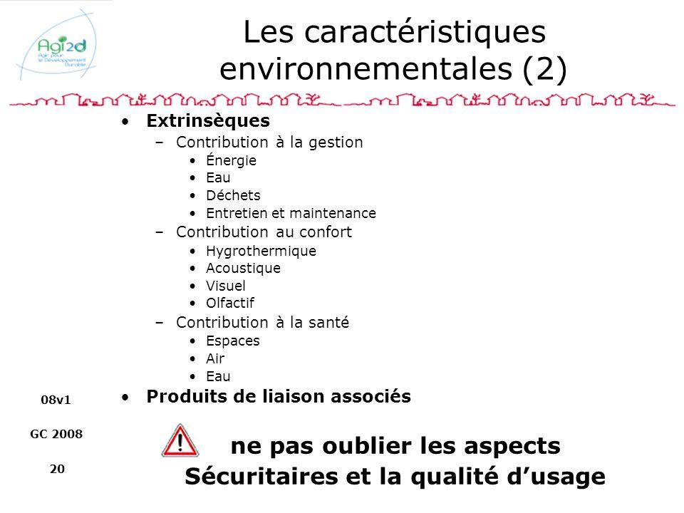 Les caractéristiques environnementales (2)