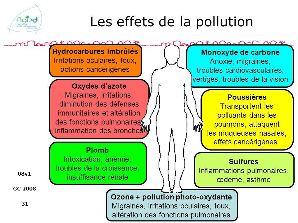 Les effets de la pollution