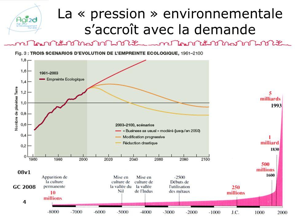 La « pression » environnementale s'accroît avec la demande