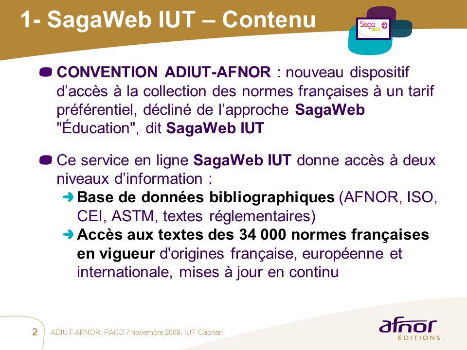 1- SagaWeb IUT – Contenu