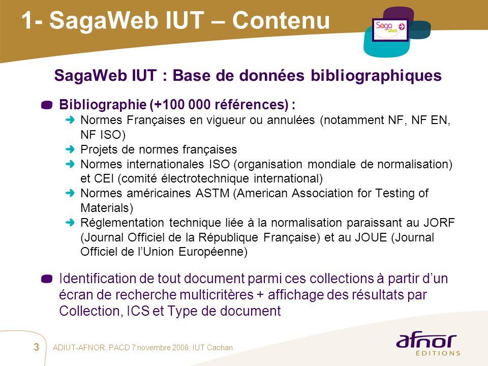 SagaWeb IUT : Base de données bibliographiques
