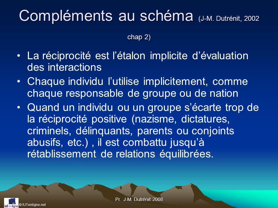 Compléments au schéma (J-M. Dutrénit, 2002 chap 2)