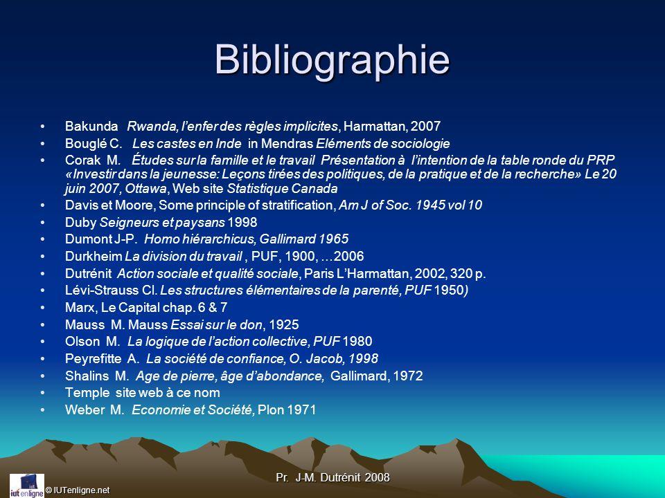 Bibliographie Bakunda Rwanda, l'enfer des règles implicites, Harmattan, 2007. Bouglé C. Les castes en Inde in Mendras Eléments de sociologie.
