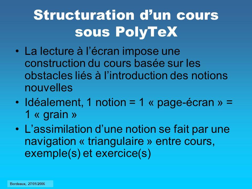 Structuration d'un cours sous PolyTeX