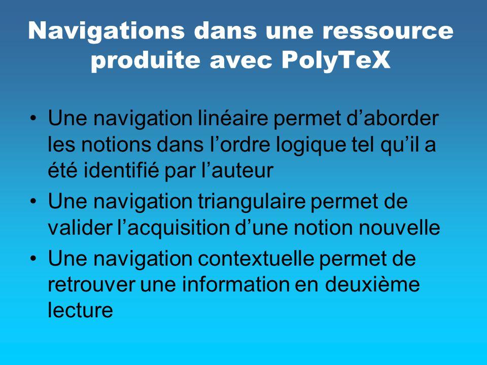 Navigations dans une ressource produite avec PolyTeX
