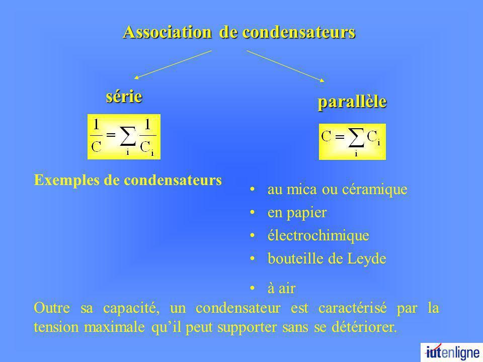 Association de condensateurs