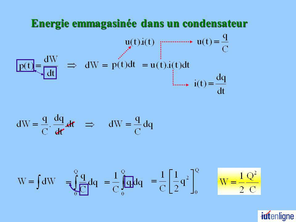 Energie emmagasinée dans un condensateur