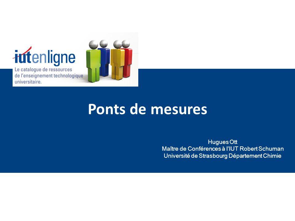 Ponts de mesures Hugues Ott